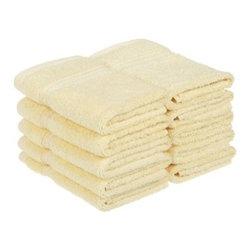 Superior Egyptian Cotton 10-Piece Canary Face Towel Set - Superior Egyptian Cotton 10pc Canary Face Towel Set