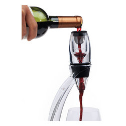 Frontgate - Vinturi Red Wine Aerator - Simply insert the aerator into the wine bottle. Stand not included; sold separately.. Dishwasher safe. Enhance the bouquet, flavor, and finish of your wine in the time it takes to pour a glass with our easy-to-use Vinturi Red Wine Aerator. As the wine passes through, the aerator draws in and mixes the proper amount of air for the right amount of time – allowing the wine to open up and release its intended aromas and flavors without the hassle of time-consuming decanters. . . .