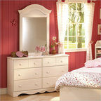 South Shore - South Shore Summer Breeze Double Dresser and Mirror Set in White Wash - South Shore - Dressers - 3210027PKG - South Shore Summer Breeze Double Dresser and Mirror Set in White Wash