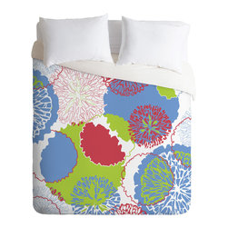 DENY Designs - Karen Harris Brandywine Fall Primrose Incarnation Duvet Cover - Turn your basic, boring down comforter into the super stylish focal point of your bedroom. Our Luxe Duvet is made from a heavy-weight luxurious woven polyester with a 50% cotton/50% polyester cream bottom. It also includes a hidden zipper with interior corner ties to secure your comforter. it's comfy, fade-resistant, and custom printed for each and every customer.