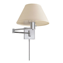 Visual Comfort & Co. - Visual Comfort & Co. 92000DPN-L Studio Classic 1-Light Swing Arm Lights - This 1-Light Swing-Arm Wall Light from the Studio Classic collection by Visual Comfort will enhance your home with a perfect mix of form and function. The features include a Polished Nickel finish applied by experts. This item qualifies for free shipping!