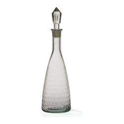 Honeycomb Decanter - Simply beautiful, stylish and shimmery Honeycomb Decanter can illuminate your home. The bubble shape adorable corked top that resembles the honeycomb pattern. It is crafted with clear glass and adorned with etched finish that exhales its true artistic touch. You can use your very own creativity and imagination to do wonders with this decanter.