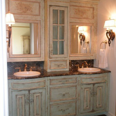 modern bathroom storage by LilyAnn Cabinets