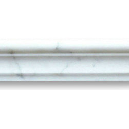 "Stone Center Online - Calacatta Gold 2 x 12 Chair Rail Trim Molding Honed - Marble from Italy - Premium Grade Calacatta Marble Italian Calcutta Gold Honed 2x12"" Chair Rail Wall & Floor Tiles are perfect for any interior/exterior projects such as kitchen backsplash, bathroom flooring, shower surround, window sill, dining room, hall, etc. Our large selection of coordinating products is available and includes hexagon, herringbone, basketweave mosaics, field, subway tiles, borders, baseboards, and more."
