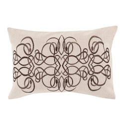 """Surya - Surya LU-005 13"""" x 20"""" Down Pillow Kit - Intricate designs intermingle exquisitely to craft an utterly unique pillow that is sure to suit your space. Handmade in India, a series of scroll prints merge magnificently, fashioning a flawlessly abstract geometric design that will make a style statement from room to room within any home decor."""