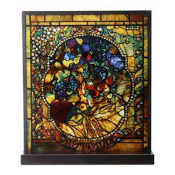 Summit - Tiffany Autumn Stained Glass - This gorgeous Tiffany Autumn Stained Glass has the finest details and highest quality you will find anywhere! Tiffany Autumn Stained Glass is truly remarkable.