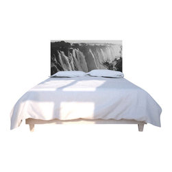 NOYO - Victoria Falls Headboard, Queen - Stylish custom headboard with exchangable slipcover. Machine wash slipcover, wipe clean cedar wood frame. Easy assembly and installation, hardwarde included.