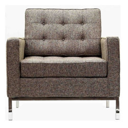 Modern Oatmeal Gray Club Chair Loft - Modern club chair Loft is a comfortable and fashionable club chair that brings in classic, instantly recognizable style that any modern living room.