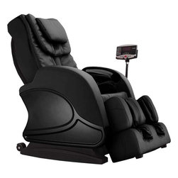 "Infinity IT-8100 Black Zero G Full Body Massage Chair Recliner w/ Warranty - Features:- 6 Roller massage mechanism, performs kneading, tapping, shiatsu, pummel massage, etc:Kneading: five speeds,Tapping: five speeds and adjustable widths,Pummel: five speeds and adjustable widths,Wavelet (synchronized kneading & tapping): five speeds,Shiatsu: Width adjustable- 2 Rollers foot massage- Air pressure massage for head and neck (2 triple-layers air bags)- Air pressure massage for arms (4 air bags each side)- Air pressure massage for buttock and hip- Air pressure foot massage (total 14 air bags)- Seat vibration- Lumbar Heat- Extendable footrest, extends to 7.4"" maximum- 3 year piece of mind warranty - parts and labor warranty - memory program setting SPECIFICATIONS: Upright:- Product Length: 31.0""- Product Width: 21.6""- Product Height: 36.8""- Product Weight (lbs): 211lbsReclined:- Product Length: 47.8""- Product Width: 21.6""- Product Height: 25.4""Max Weight Capacity: Approx. 330lbs Infinity Warranty"
