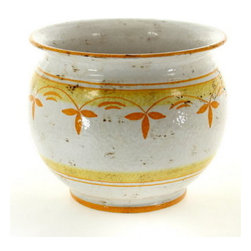 Artistica - Hand Made in Italy - POMONTE: Cachepot/Planter YELLOW - MEDIUM - POMONTE Collection.