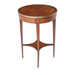 French Mahogany Inlay Gueridon Occasional Table -