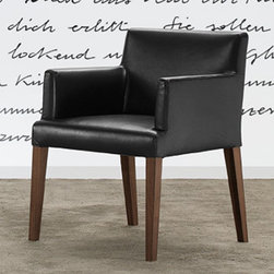 Poliform - Poliform Velvet Dining Chair - Structure in wenge, canaletto walnut, or matt lacquered colors.  Cover removable in fabric or leather.  Available with or with out arms.  Manufactured by Poliform in Italy.  Price includes delivery to the USA.Designed in 2008.
