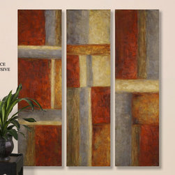 "32173 Red Hot Panels S/3 by Uttermost - Get 10% discount on your first order. Coupon code: ""houzz"". Order today.]"
