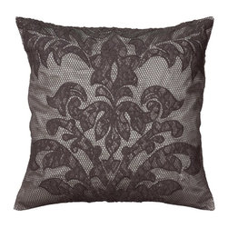 Rizzy Home - Rizzy Home Overlay Applique on Textured Decorative Throw Pillow Multicolor - PIL - Shop for Pillows from Hayneedle.com! Inspired by vintage lingerie the Rizzy Home Overlay Applique on Textured Decorative Throw Pillow brings lacy allure to your boudoir or living room. Tonal gray faux silk gets a sultry fishnet overlay and beautiful lace applique. Smart too this throw pillow features a removable polyester insert and hidden zipper. Spot clean only.About Rizzy HomeRizwan Ansari and his brother Shamsu come from a family of rug artisans in India. Their design color and production skills have been passed from generation to generation. Known for meticulously crafted handmade wool rugs and quality textiles the Ansari family has built a flourishing home-fashion business from state-of-the-art facilities in India. In 2007 they established a rug-and-textiles distribution center in Calhoun Georgia. With more than 100 000 square feet of warehouse space the U.S. facility allows the company to further build on its reputation for excellence artistry and innovation. Their products include a wide selection of handmade and machine-made rugs as well as designer bed linens duvet sets quilts decorative pillows table linens and more. The family business prides itself on outstanding customer service a variety of price points and an array of designs and weaving techniques.