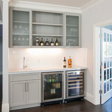 Craftsman Home Bar by Precision Cabinets
