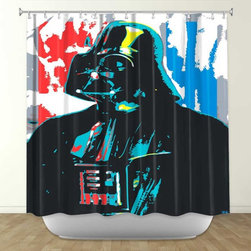 Shower Curtain HQ - Darth Vader by Ty Jeter Fabric Shower Curtain, Made in the USA