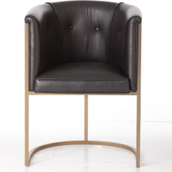 Arteriors Calvin Black Chair - I love this Calvin chair. It's a great mix of retro and modern with class.