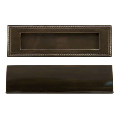 Georgian Solid Brass Mail Slot - Complete your door set with this wonderful, expertly crafted mail slot. It tilts inward for easy deposit, and features a classic rope detail around the exterior.
