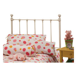 Hillsdale Furniture - Hillsdale Molly Panel Headboard in White - Twin - Adorable old fashioned kids bed is updated with festive and trendy colors: blue, green, red and yellow. A new spin on an old standard.