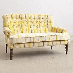 Anthropologie - Hand-Dyed Velvet Settee - *Cotton velvet upholstery; polyfill