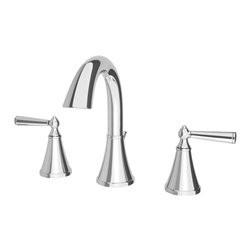"Price Pfister - Pfister GT49-GL0C Saxton Two Handle Widespread Lavatory Faucet - Price Pfister GT49-GL0C is a Saxton Series 8"" widespread lavatory faucet. Includes metal pop-up, lever handles, quick connect hose assembly."