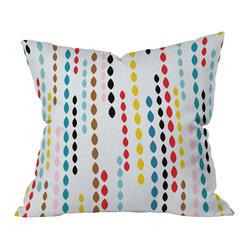 Khristian A Howell Nolita Drops Throw Pillow, 18x18x5