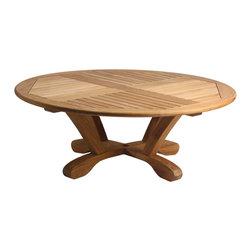 "Douglas Nance - Douglas Nance Cayman Conversation Table - Beautifully sculpted Cayman 48"" Teak Conversation Table."