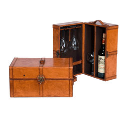 Sarreid - Sarreid Leather Wine Box, Set of 2 -