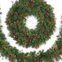 Sugar Pine Cordless Lighted Wreath & Garland - LIVEN UP YOUR HOME WITH OUR SUGAR PINE CORDLESS LED WREATH AND GARLAND