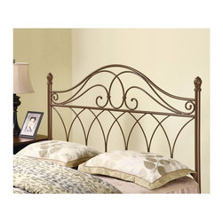 "Coaster - ""Coaster Headboard, Full/Queen, Rich Brown"" - ""Hand painted in a rich brown color, this gorgeously detailed metal headboard is a handsome addition to any bed in your home. Featuring ornamental elegant looping with a weave design, this headboard fits either a full or queen bed frame.Finish/Color: (Rich Brown)NAAssembly Required: YesMade in China"""