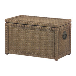 Lindi Trunk - This neutral rattan trunk from Pier 1 is a natural beauty with seven cubic feet of storage hidden away.