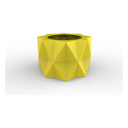 Decorpro - Buntry Planter (CANARY YELLOW) - Made from a non-toxic food grade polymer based fiberglass resin, these contemporary planters will never rot, mildew, split, cup or warp. This material offers an unparalleled combination of uniformity, durability and beauty. These modern outdoor planters are available in our standard colours or you have the option of selecting a custom colour. Decorpro planters meet all your performance and durability requirements. Whether exposed to salt water the rough and tumble of everyday wear and tear of home or commercial use, our gel coats maintain a beautiful finish no matter how tough the conditions get.