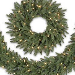 Balsam Hill Silverado Slim™ Decorated Wreath and Garland - CAPTURE THE BEAUTY OF NAPA IN BALSAM HILL'S SILVERADO SLIM™ WREATH AND GARLAND |