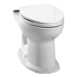 Toto - Toto C754EF#01 Cotton White Eco Dartmouth Elongated Toilet Bowl, 1.28 GPF - With it's oval-shaped lines and blending style, the Dartmouth collection is sure to fit into any home decor.