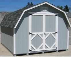Little Cottage 12 x 10 ft. Classic Wood Gambrel Barn Panelized Storage Shed - Additional FeaturesInterior measures 11.4L x 7.4H feetDoor measures 5W x 6H feet The Little Cottage 12 x 10 ft. Classic Wood Gambrel Barn Panelized Storage Shed Kit is beautiful and well-made. Crafted from wood and featuring high quality siding, aluminum trim, and gable vents, this is a shed you'll have for many years to come. With large double doors that make it easy to store equipment and other items, this barn also features a door handle latch that locks so you can be sure your equipment is safe. With classic styling, you'll love the look and feel of this barn without feeling a pinch in your wallet.About The Little Cottage CompanyNestled in the heart of Ohio's Amish country, The Little Cottage Company resides in a quaint, slow-paced setting where old-fashioned craftsmanship and attention to detail have never gone out of style. Their experienced carpenters and skilled designers take great pride in creating top-quality, pre-built models and Do-It-Yourself kits of playhouses, storage sheds, and more.