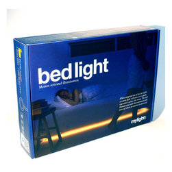 None - Mylight LED Motion Activated Ambient Lighting Kit - The mylight bedlight kit is a thoughtful lighting that responds to your needs. The light outsmarts all other LED lighting strips and can be installed under beds, dressers, in closets, under bathroom vanities or in the kitchen.