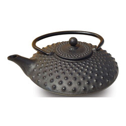 Old Dutch International - Black Amity Teapot (Matte Black) - Color: Matte Black1.63 lbs. capacity. Enameled interior. SS infuser. Made from cast iron. No assembly required. 7 in. Dia. x 5.5 in. H (4.3 lbs.)
