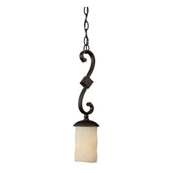 Capital Lighting - Capital Lighting River Crest Traditional Pendant Light X-521-IR1063 - Rustic and antique, the River Crest Traditional Pendant Light from Capital Lighting is a great way to bring design details to your home. The shade is created with Rust Scavo glass and then finished in a similar Rustic Iron. When put together, this light gleams with warm light.