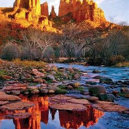 Cathedral Rock Puzzle - 1000 Piece Jigsaw PuzzleThe colors of Cathedral Rock are mirrored and enhanced in its watery reflection making this jigsaw puzzle twice the challenge! The distinctive shapes and rich colors are a beautiful mystery waiting to be pieced together. Cathedral Rock is one of the most famous landmarks of the Arizona landscape.