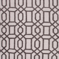 Jaipur Rugs - Modern Geometric Pattern Gray /Black Wool/Silk Tufted Rug - CT07, 9.6x13.6 - Over scaled sharp geometrics characterize this striking contemporary range of hand tufted rugs. The high/low construction in wool and art silk creates texture and surface interest and gives a look of matt and shine.