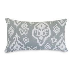 Majestic Home Goods - Gray Raja Small Pillow - Add a splash of color and a little texture to any room with these plush pillows by Majestic Home Goods. The Majestic Home Goods pillow will instantly lend a comfortable look to your living room, family room or bedroom. Whether you are using them as decor throw pillows or simply for support, Majestic Home Goods pillows are the perfect addition to your home. These throw pillows are woven from Cotton Twill, and filled with Super Loft recycled Polyester Fiber Fill for a comfortable but durable look. Spot clean only.