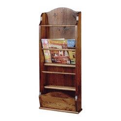 the renovators supply magazine racks antique pine wall magazine rack 40 39 39 h 102912. Black Bedroom Furniture Sets. Home Design Ideas