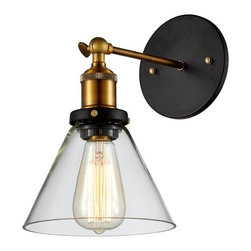 Ohr Lighting® - Ohr Lighting® Edison Vintage Light Sconce, Clear/Antique Brass - Features