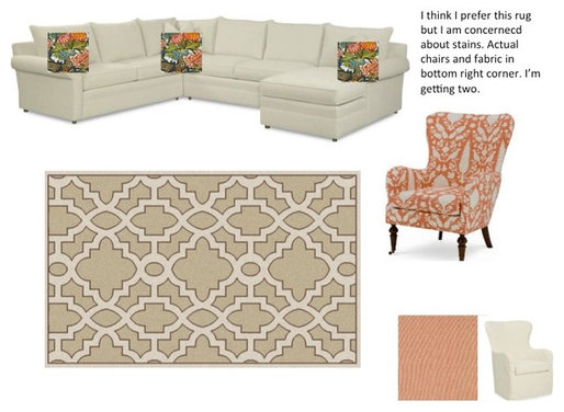 Need Help Picking A Rug And Chair Fabrics