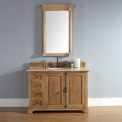 48 Inch Providence Natural Oak Single Sink Vanity - Please note: Vanities are priced with no vanity top. Multiple vanity top options available.