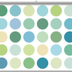 4 Walls - Big Spot Sea Glass Light Minute Mural - Minute Murals are custom wallpaper murals printed on heavy duty professional-grade wall covering. Each mural is shipped as a complete kit containing metal suspension bars, hanging hardware, and instructions. The mural assembles in minutes with no tools required.The new decorating solution for small spaces, nurseys, dorms, playrooms and more, these portable murals are extremely versatile.  Large-scale artwork printed on heavy, premium-grade mural substrate  No pasting required - hangs just like a painting and can be moved at any time.  Installs in minutes with no tools required.  Has the same dramatic impact as a pasted mural.