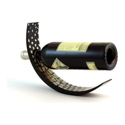 The Art of Beverage - Eggshell Wine Arc Bottle Holder, Gradient - This wine bottle holder is designed to balance your wine bottle in mid-air. All you need to do is insert the bottle neck into the hole and adjust it a little bit and tadaa! Your bottle looks like it is floating. This design comes in glossy lacquer black for the base and individually-laid egg shell with slightly brown color for the print. Each egg shell piece is applied one by one making each and every one of this Wine Arc unique.