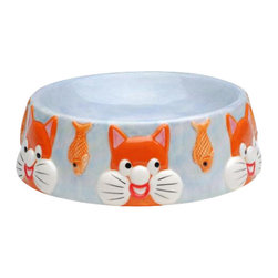 """ATD - 6.5 Inch Multicolored """"Tom's Cats"""" Fish Themed Decorative Cat Dish - This gorgeous 6.5 Inch Multicolored """"Tom's Cats"""" Fish Themed Decorative Cat Dish has the finest details and highest quality you will find anywhere! 6.5 Inch Multicolored """"Tom's Cats"""" Fish Themed Decorative Cat Dish is truly remarkable."""