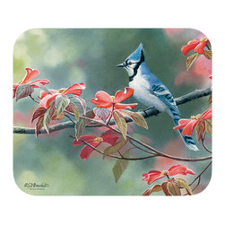 "520-Blue Jays Mouse Pad - Decorate your desk with your favorite art designs that look great and protect your mouse from scratches and debris. 100% Polyester face, 100% neoprene backing, permanently dye printed & fade resistant. 9.25"" x 7.5"""