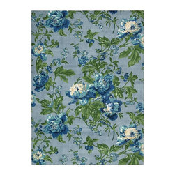 "Nourison - Country & Floral Waverly Artisanal Delight 2'6""x4' Rectangle Sky Area Rug - The Waverly Artisanal Delight area rug Collection offers an affordable assortment of Country & Floral stylings. Waverly Artisanal Delight features a blend of natural Sky color. Machine Made of 100% Polyester the Waverly Artisanal Delight Collection is an intriguing compliment to any decor."